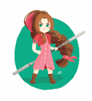 Aerith Gainsborough by jubalew