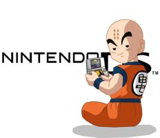 Krillin playing a DS by eggmanrules