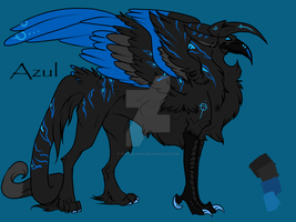 Azul Ref Sheet+Speedpaint by ohitsuji101