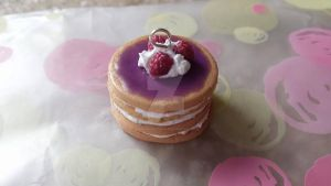 Raspberry Layer Cake Charm by RuusuMorningstar