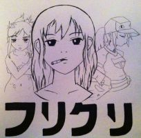 The ladies of FLCL by Benzi-Rae