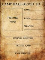 camp half- blood i.d. card by doodlingsketch