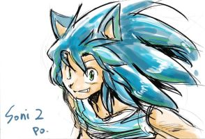 sonic human 2 by bbpopococo