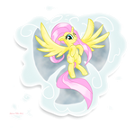 MLP Fluttershy the Cloud Angel by Ste-C