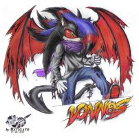 Vonnes the Demon Hedgehog by Zero-White-tiger