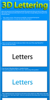 How to make 3D Letters on PS by cruzerDESIGN