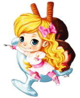 Chibi for Angel808 by Demasca