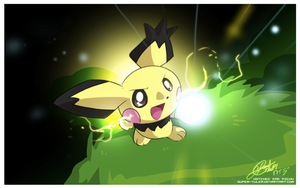 Notched Ear Pichu by super-tuler