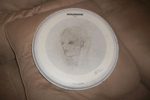 Used Drum Head Artsiness ~ Gift for a Friend by lovetadraw