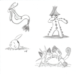Milotic, Cacturne, Gulpin and Meowth by Seiryu6