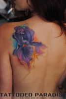 Iris watercolor tattoo by dopeindulgence