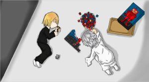 Little Mello and Near Colored by A-Black-Angel