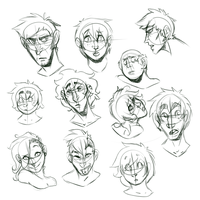 Many Face Sketches by BloodLadenWolf