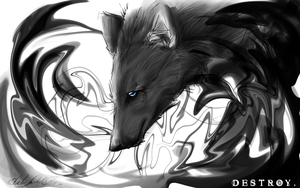 .::BlackPainted::. by WhiteSpiritWolf
