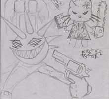 Evil Kitty and Wicked Punk by Bodhi-The-Wicked