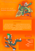 Ferbzilla and Phineaur Journal skin by DBluver
