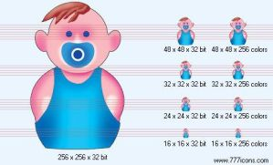 Baby-boy Icon by medical-icon-set