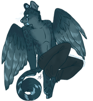 Midnight critter-anthro adoptable by FourDirtyPaws