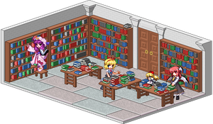 Scarlet Devil Mansion library by grotar00
