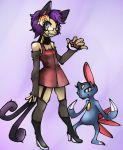 Bachiko And Sneasel in Color by KuroSaburo