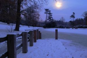 Dunorlan Park by Moonlight by CitizenJustin