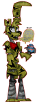 it's Springtrap the easter bunny by Dizzee-Toaster