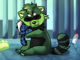 .:CO:. Plushie shnuggles by SpunkyRacoon