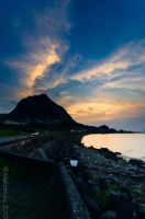 Sunset along the coast by Galen82
