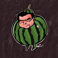 Man in a Watermelon suit by rosarioagro