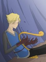 Finn and his Harp by Cold-Creature