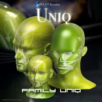 Family Uniq - Green Icons by DARIMAN