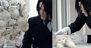 Sebastian Michaelis -Cat lover by selfOblivion