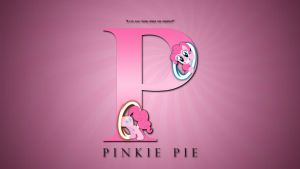 Wallpaper : Letters - Pinkie Pie by pims1978