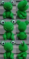 Frog Collage by crochetamommy