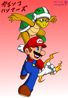 Mario and Hammer Bros by doctorWalui