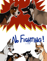 NO FIGHTING U LIL SHITS by mexicanine
