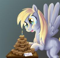 Happy birthday Derpy by bunnimation