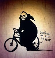 Death can not ride the bike by Siare