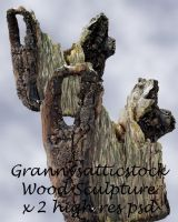 Wood Sculptures psd by GRANNYSATTICSTOCK