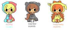 Animal Adopts~CLOSED by Chibii-chii