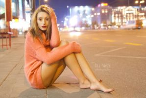 night in the city by Juelej