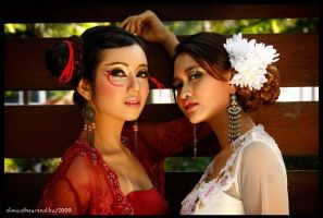 Beautiful in Red and White by rendika