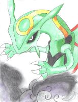 RAYQUAZA the SKY MONSTER :3 by LizardonEievui13