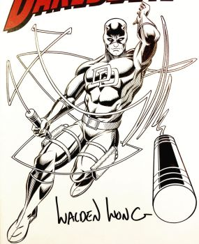 Inktober Day 17: Daredevil commission  by WaldenWong
