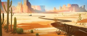 Desert Road by teetertotter