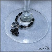 Gothic Flower Wine Charms by 1337-Art
