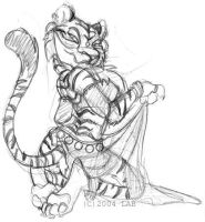 Tiger Gal Sketch by lberghol