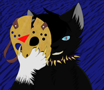 He's the cat behind the mask by NighshadeIceheart