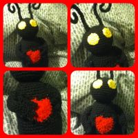 Heartless Kingdom Hearts amigurumi plush - kawaii by magpie89