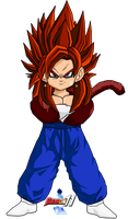 Kid Vegetto SSJ4 by Dairon11